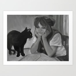Daydreamer Usagi and Luna Art Print