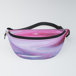 Dripping Fluid Paints; Pink, Blue and White Fanny Pack