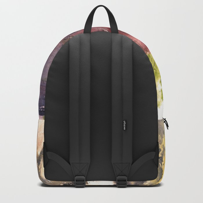 Rhodes old town streets Backpack
