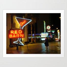 Las Vegas Neon Sign Art Print