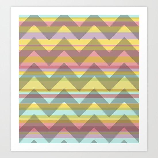 Chevron Stripe Art Print