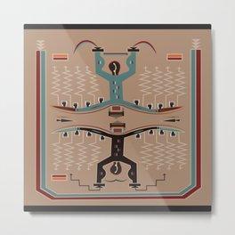 American Native Pattern No. 112 Metal Print