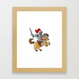 Knight on Horse Framed Art Print