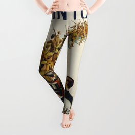 Vintage poster - Step into your place Leggings