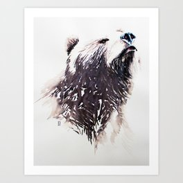 Smelling lunch Art Print