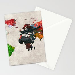 World Map 56 Stationery Cards