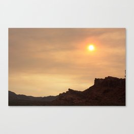 Desert Sunset Photo Canvas Print