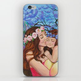 Mother and Daughter Fairies iPhone Skin
