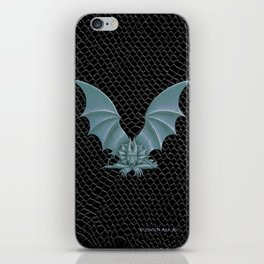 """Dragon Letter V, from """"Dracoserific"""", a font full of Dragons iPhone Skin"""