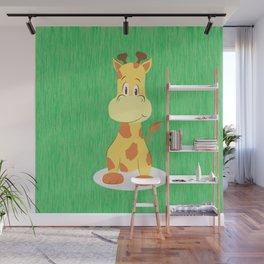 A happy giraffe Wall Mural