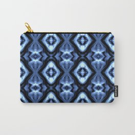 Bright Bue Diamond Pattern Carry-All Pouch