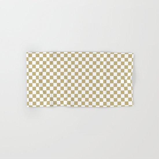 Checker (Sand/White) Hand & Bath Towel