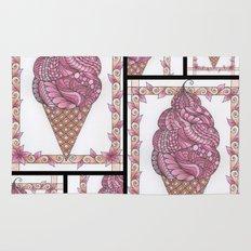 Strawberry Ice Cream Cone Collage Rug