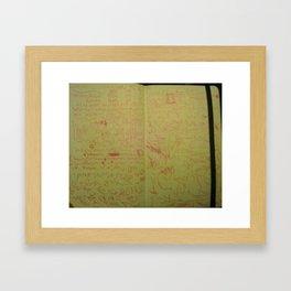 escritura asémica Framed Art Print