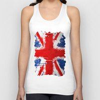 british Tank Tops featuring BRITISH FLAG by Sophie