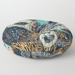Metallic Octopus II Floor Pillow