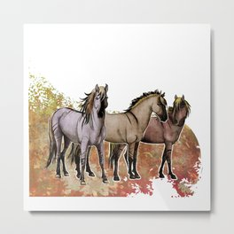 Stripped Horses- Sorraia Metal Print