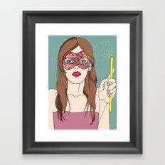 The magic of the mask Framed Art Print