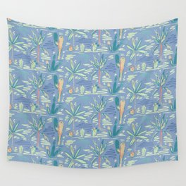 Summer Vibes Palm Trees Oasis Print Wall Tapestry