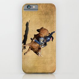 Bull Dust! - Rodeo Bull Riding Cowboy iPhone Case