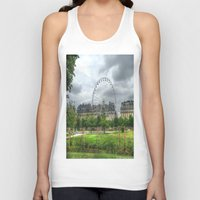 ferris wheel Tank Tops featuring Ferris Wheel by Christine Workman