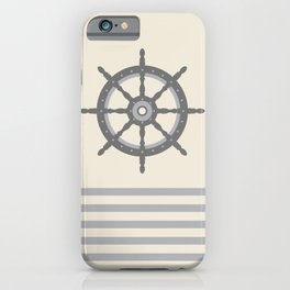 AFE Gray Helm Wheel iPhone Case