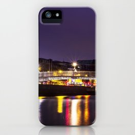 Liffey Bridge Ha'penny Bridge at Night Dublin Ireland iPhone Case