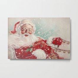 Cute vintage Santa Claus Metal Print