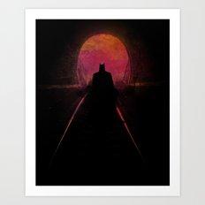 Dark heroe Art Print
