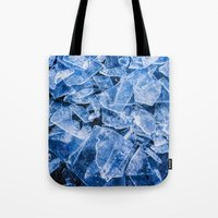 ice Tote Bags featuring Ice by digital2real