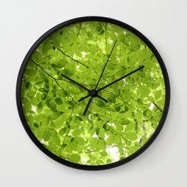 Leaves - JUSTART (c) Wall Clock