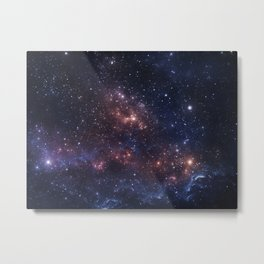Stars and Nebula Metal Print