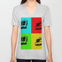 Cassettes Square Unisex V-Neck