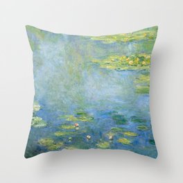 Water Lilies 1906 by Claude Monet Throw Pillow