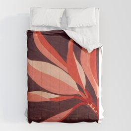 Abstract Leaves Comforters