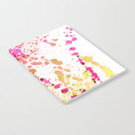 Uplifting Heat - Abstract Splatter Style Notebook
