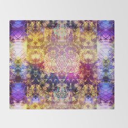 Fractalic Pineal Metatron | Foundant Dusa | Melting Soul Throw Blanket
