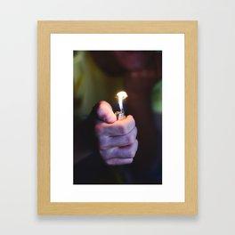light it up Framed Art Print