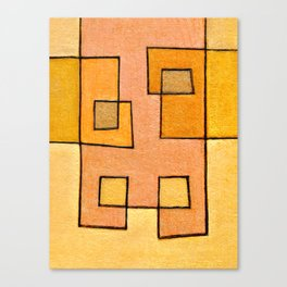 Protoglifo 04 'yellow hugging pink' Canvas Print