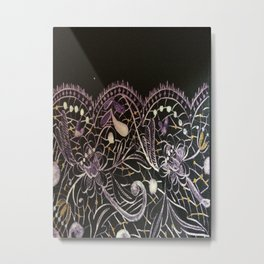 Lilac Lace Metal Print