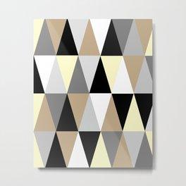 Brown Triangles Metal Print