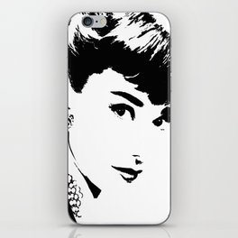 Audrey Simply Beautiful in Black and white iPhone Skin