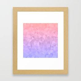 Pastel Ombre Framed Art Print