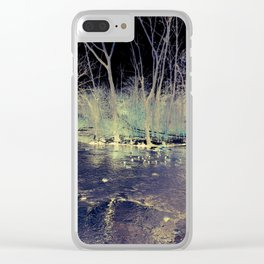 """Winter's Splendor Solarized"" Clear iPhone Case"