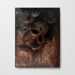 Gear mechanism shady Metal Print