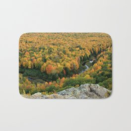 Autumn Colors at the Carp River Valley, Porcupine Mountains State Park, Upper Peninsula, MI Bath Mat