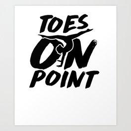 Cute Gymnast Toes On Point Leotard White Kunstdrucke