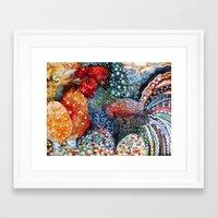 cock Framed Art Prints featuring cock by oxana zaika