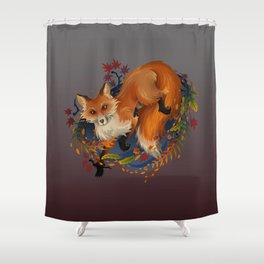 Sly Fox Spirit Animal Shower Curtain