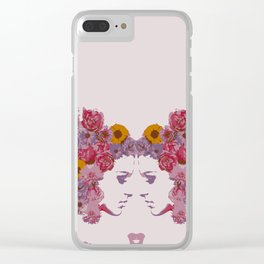 Twin Fairy Clear iPhone Case